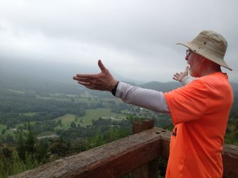 #32, (Jim, arms outstretched) The hills are alive.